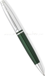 Шариковая ручка Cross Calais, Chrome / Green Lacquer