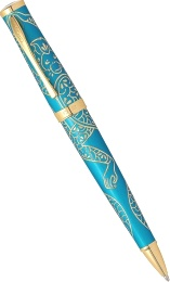 Шариковая ручка Cross Sauvage Year of the Monkey, Tibetan Teal Lacquer GT