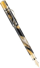 Перьевая ручка Visconti Ragtime 20th Anniversary Limited Edition, Amber and black marble GT