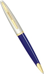 Шариковая ручка Waterman Carene DeLuxe, Blue / Silver