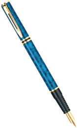 Ручка перьевая Waterman Laureat, Oriental Blue GT (Перо М)
